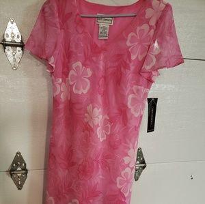Karin Stevens pink floral dress. Size 10